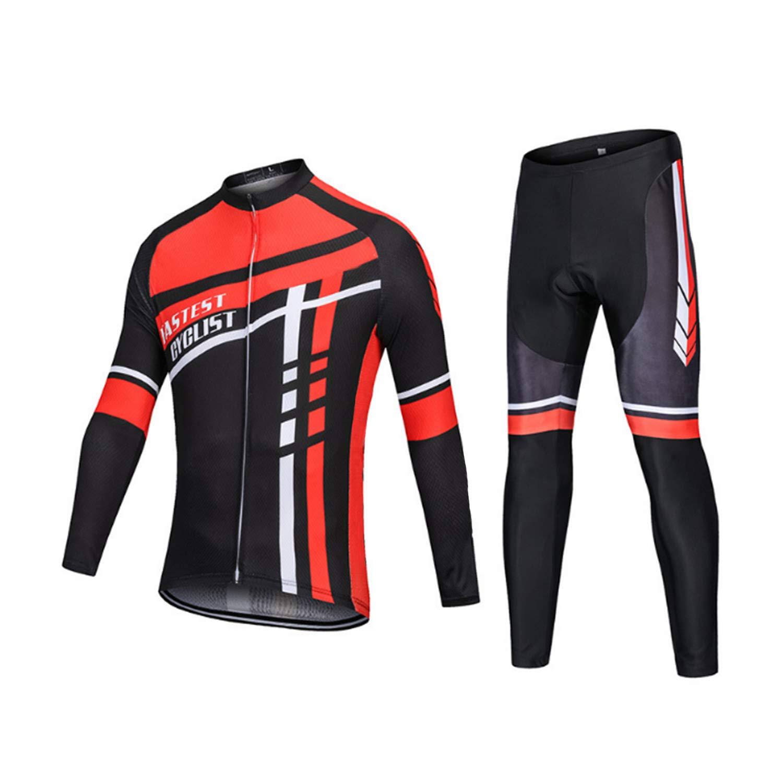 TAIXIJIA Männer Radsportbekleidung Sets Atmungsaktiv Schnell Trocknend Fahrrad Hosen Casual Outdoor Laufbekleidung Fahrradhose,XS