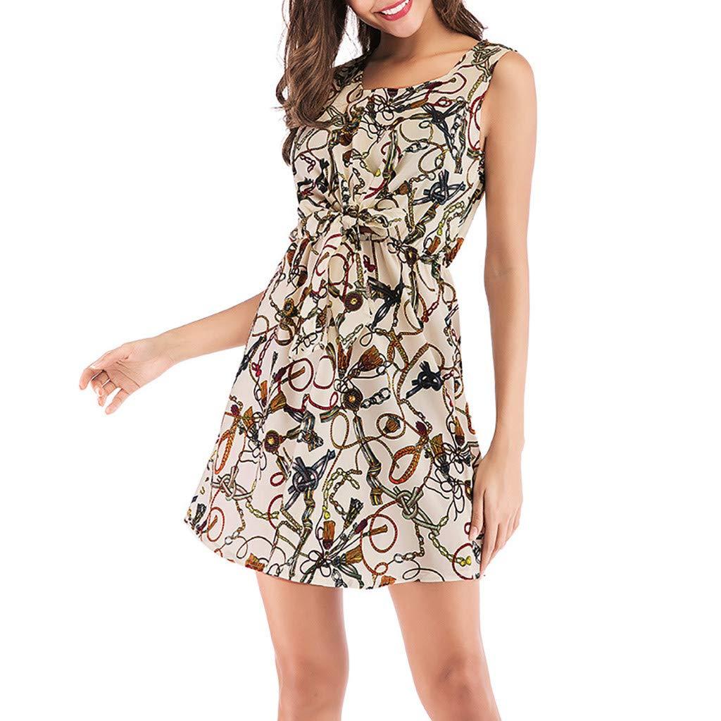 Bibao vestido bohemio con estampado floral para vacaciones ...