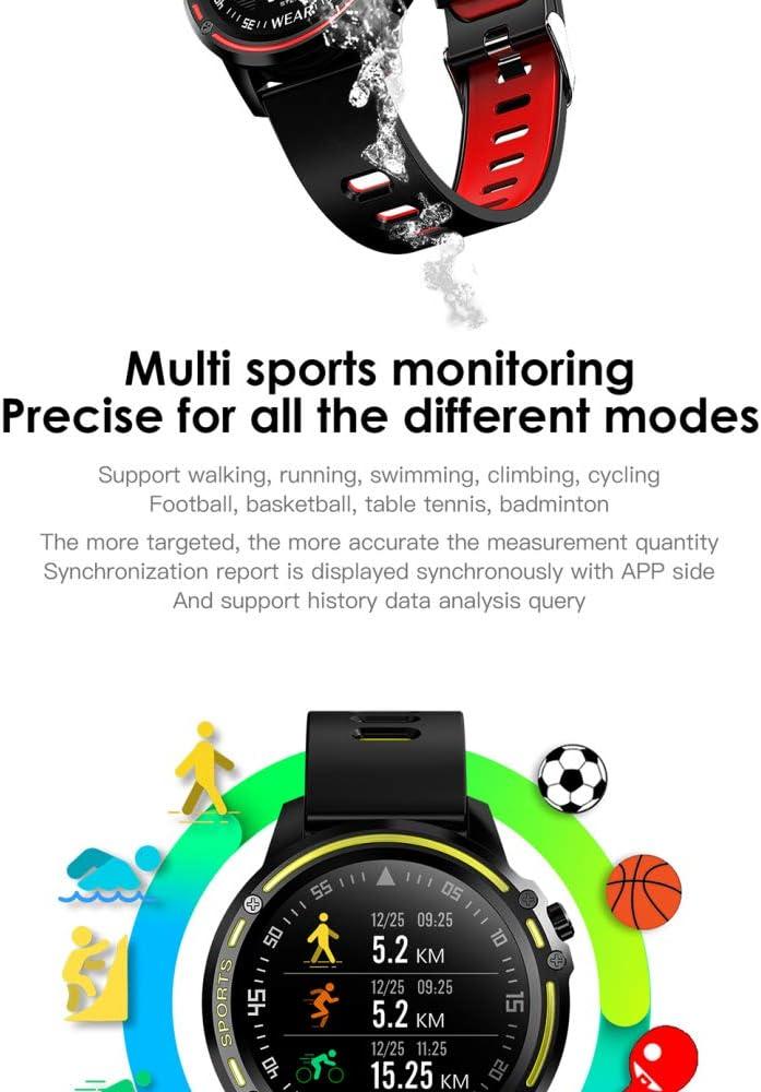 DWDADYYY Modello Impermeabile da Uomo Smart Watch con Orologio Fitness Sportivo per la misurazione della frequenza cardiaca Green