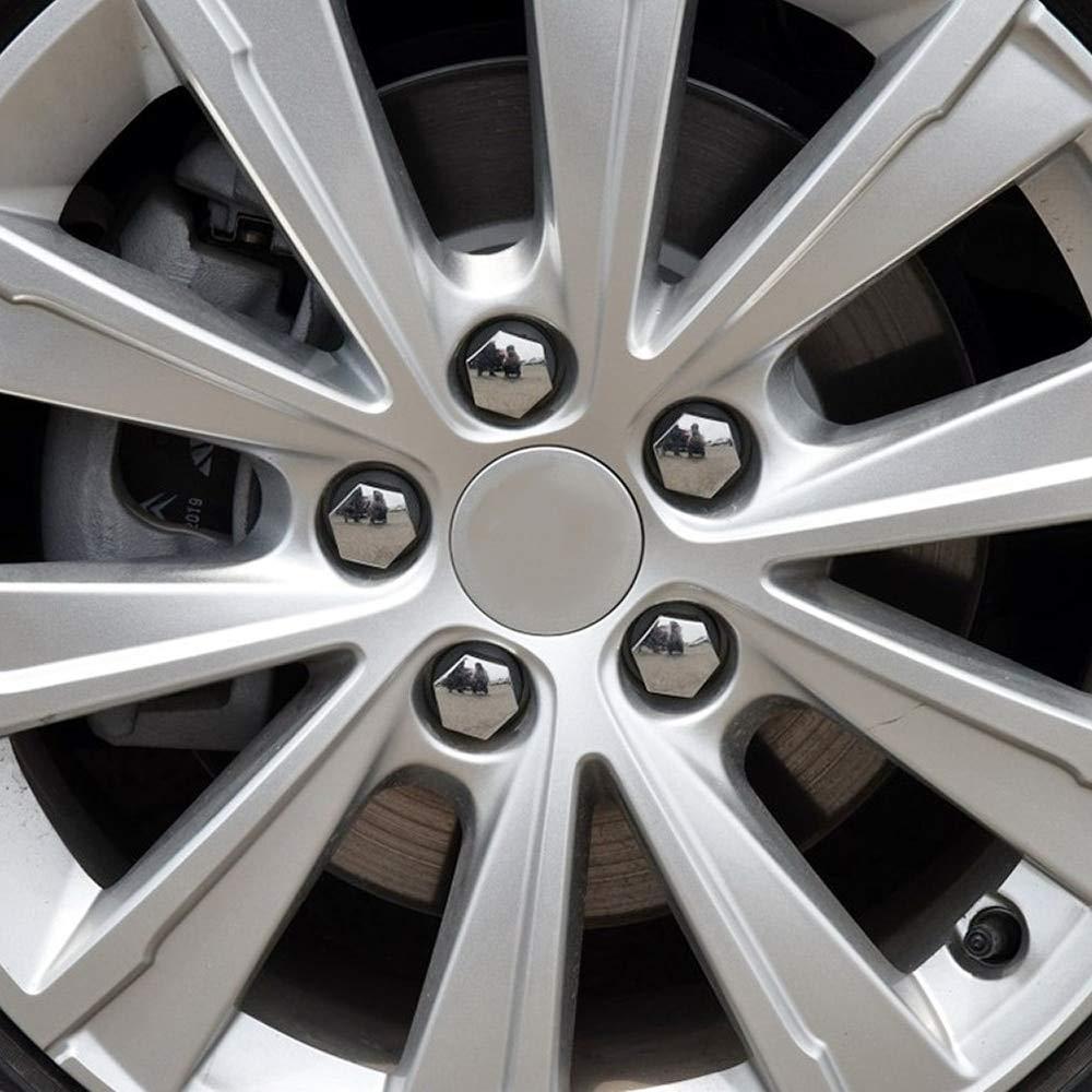 LSLMLLL 20pcs 17 mm Voiture Roue Auto moyeu Couvercle vis /écrou en Plastique Boulon Caps vis d/écoration pour Audi A3 A3 A5 A6 A1 Q3 Q5 Q7 TT