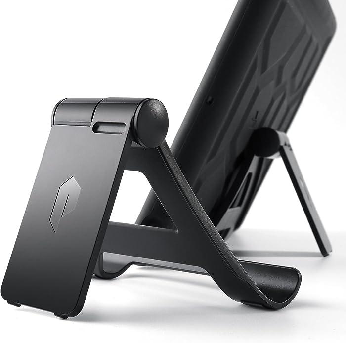 Poetic Universal Adjustable Multi-Angle Mount Holder Stand for Tablet/E-Reader, iPad Mini, iPad Air, iPad 9.7 2017, Galaxy Tab S3 9.7, iPad Pro 9.7,12.9 (Black)