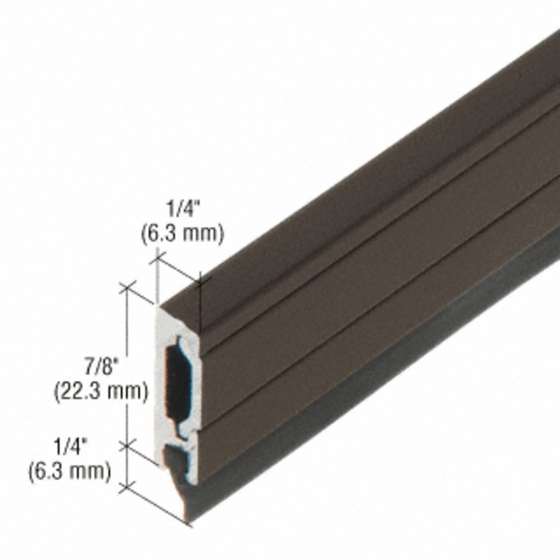 CRL 48'' Dark Bronze Anodized Entrance Door Sweep with Concealed Fasteners