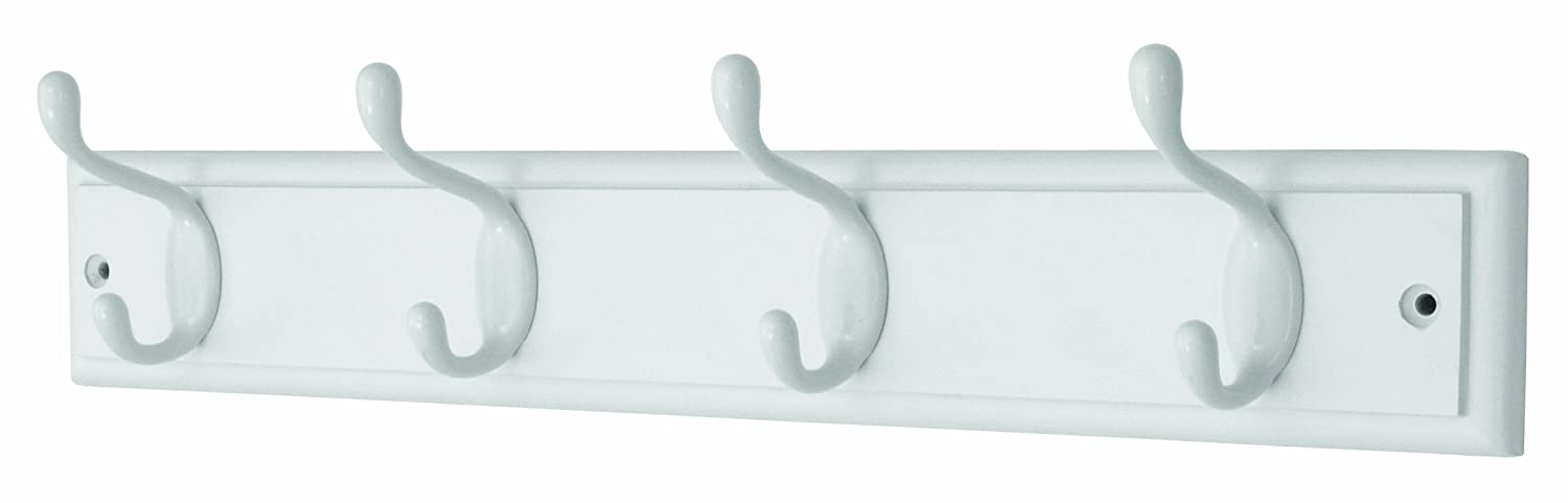 Headbourne Hr0612H 4-Heavy Duty Chrome Hooks on Wooden Board Coat Rack Hanger Select Hardware