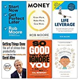 Start Now Get Perfect Later,Money Know More Make More Give More,Life Leverage,Getting Things Done,So Good They Cant Ignore You,The Headspace Guide to Mindfulness & Meditation 6 Books Collection Set