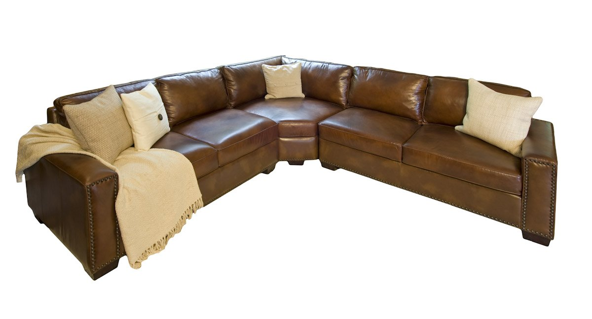 Amazon.com Elements Carlyle Top Grain Rustic Leather Sectional Sofas Kitchen u0026 Dining  sc 1 st  Amazon.com : rustic leather sectional sofa - Sectionals, Sofas & Couches