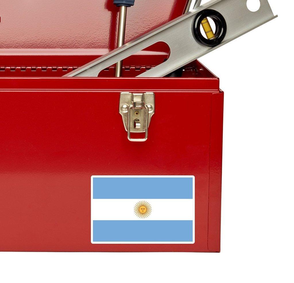2 x 10cm/100 mm Bandera de Argentina Argentina Etiqueta autoadhesiva de vinilo adhesivo portátil de viaje equipaje signo coche divertido #4406: Amazon.es: ...