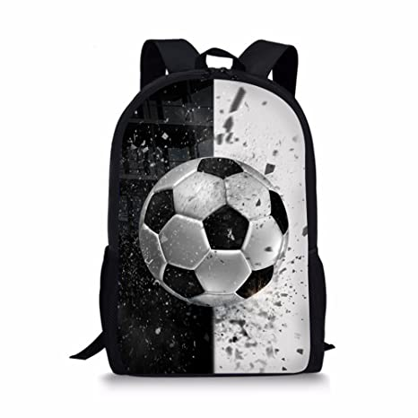 Amazon.com | Coloranimal Fashion Children School Backpack Soccer Pattern Book Bags for Traveling | Kids Backpacks