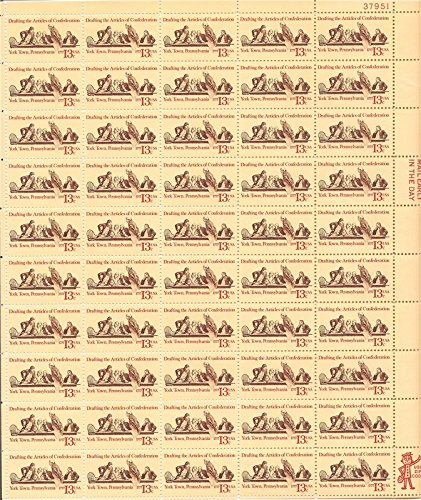 - US Stamp - 1977 Articles of Confederation - 50 Stamp Sheet #1726