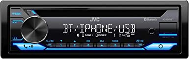 CD Receiver Featuring Bluetooth Alexa Connectivity with Magnet Phone Holder Front USB AUX JVC KD-TD71BT