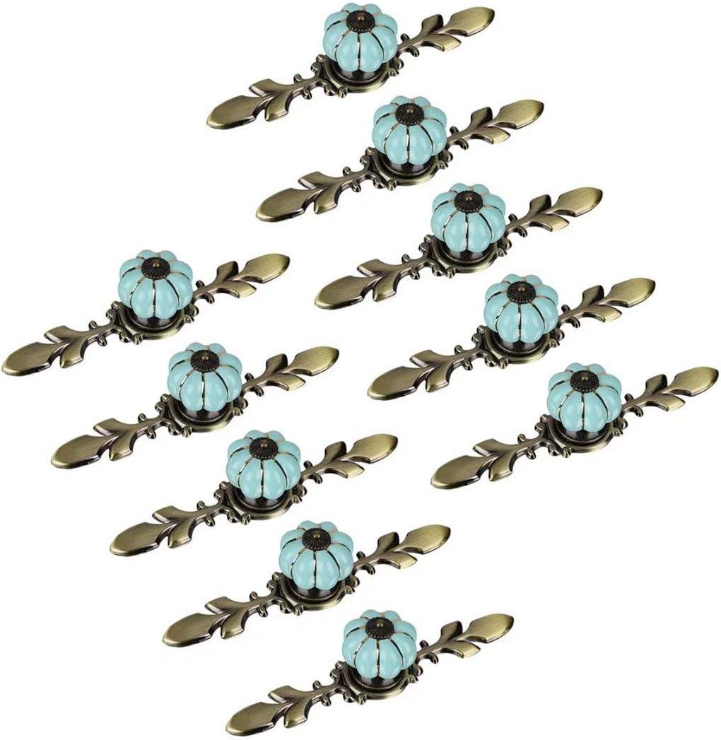 Creatwls 10 piezas Pomos y Tiradores de Muebles Manijas de Puerta de Gabinete de Cocina Aleaci/ón de cer/ámica y zinc Tirador de Muebles para Cuarto de los Ni/ños y Guarder/ía