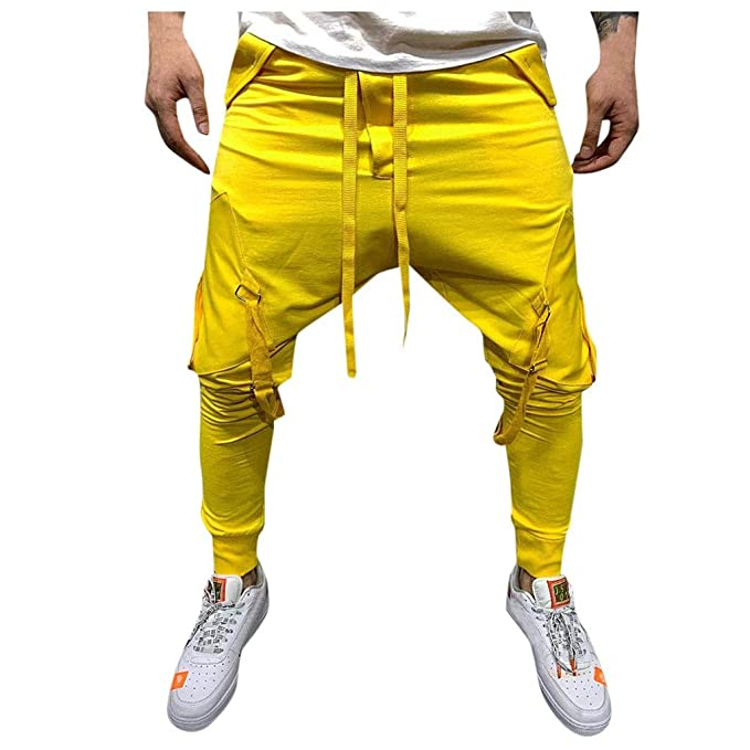 JiaMeng Pantalones de chándal Slim fit Pantalones Deportivos ...