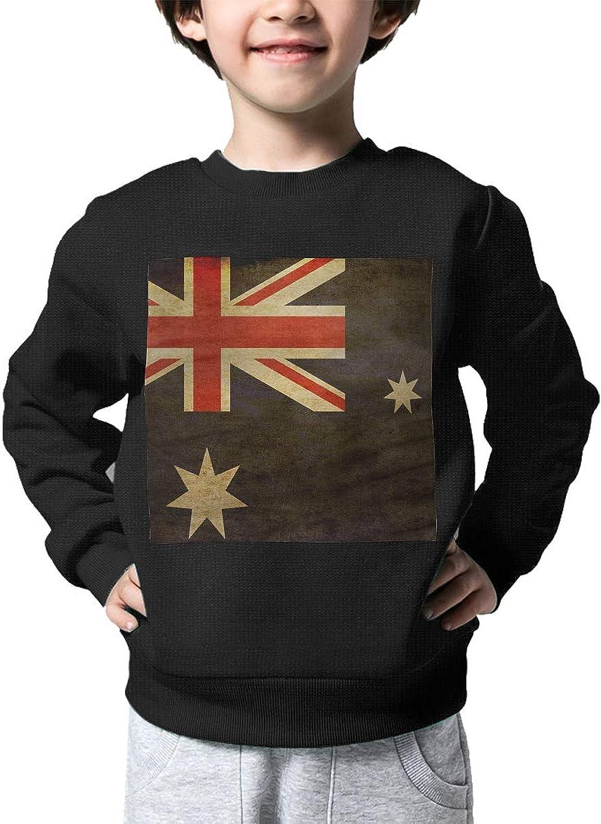 Boys Girls Vintage Australia Flag Lovely Sweaters Soft Warm Unisex Children Kids Sweater