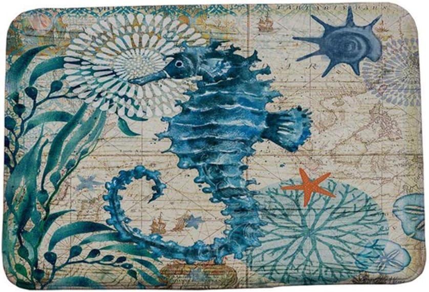 heaven2017 Octopus Whale Turtle Seahorse Kitchen Anti-Slip Floor Mat for Home Bathroom Decoration 4#