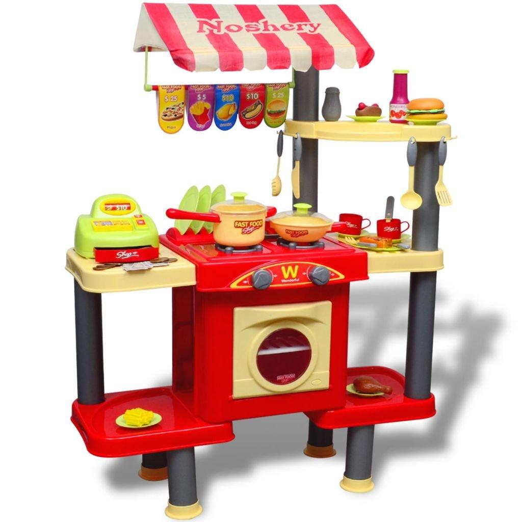 SENLUOWX Große Kinderküche Spielküche Material: Kunststoff Spielzeugküche