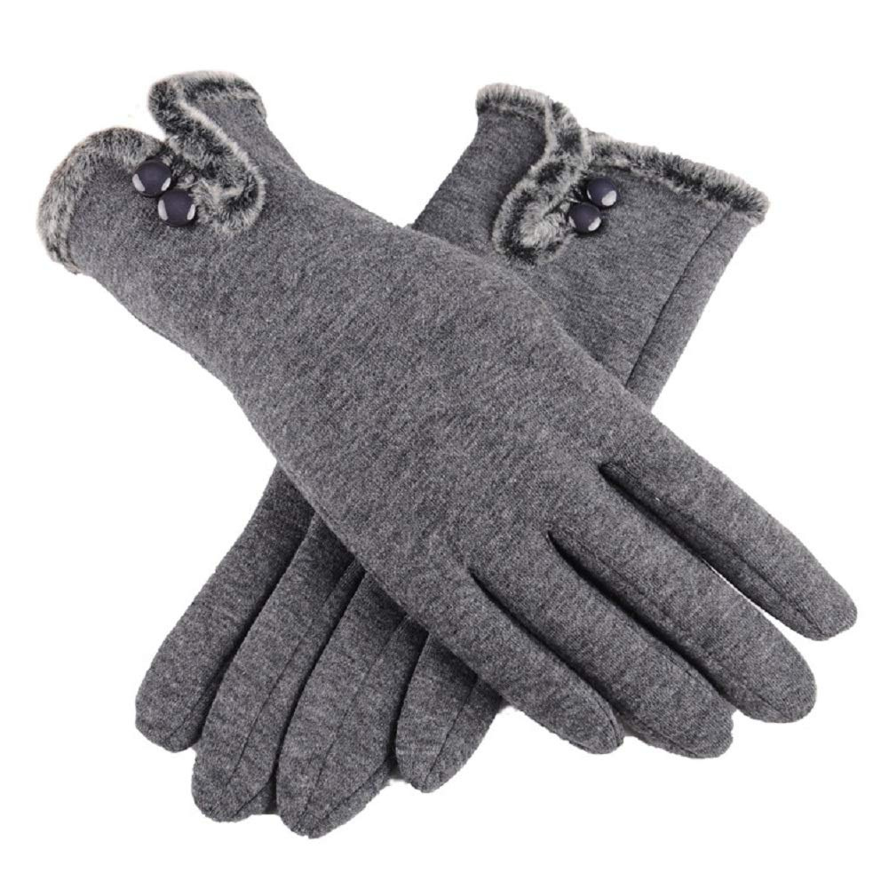 Winter Gloves Touch Screen Gloves,Super Warm Gloves Winter Outdoor Gloves for Women (Gray)