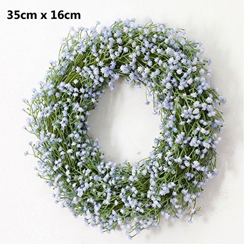"14"" Baby Breath Twig Wreath,Artificial Plastic flowers Farmhouse Wreath, Fall Wreath, Winter Wreath, Summer Wreath, Farmhouse Decor, White Wreath, Antique White door Wreath, Wedding Décor, Home Decor"