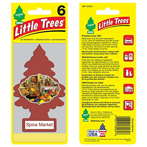 LITTLE TREES auto air freshener, Spice Market, 6-packs (4 count) by Little Trees (Image #1)