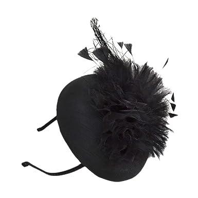 August Hats Womens Black Embellished Fascinator Hat at Amazon ... e5655bdbaa6