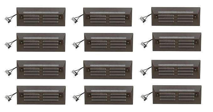 12 Pack Malibu Proscapes 8608 0408 12 Led Full Brick Step Deck