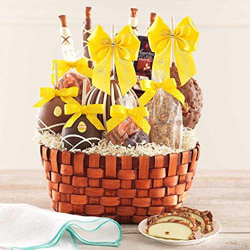 Premium Easter Caramel Apple Gift Basket