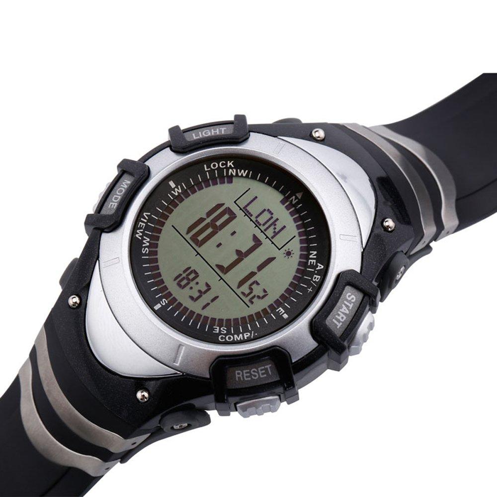 SUNROAD FR8204A Digital Waterproof Outdoor Sports Men Watch -Altimeter Compass Stopwatch Barometer Pedometer Watch Outdoor Sports Multifunction