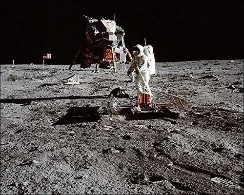 APOLLO 11 SEISMIC EXPERIMENT BUZZ ALDRIN 8x10 SILVER HALIDE PHOTO PRINT