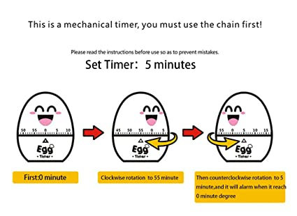 Cute Kitchen Mechanical Egg Timer For Cooking Kitchen