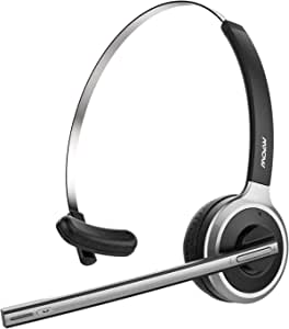 Mpow V4.1 Bluetooth Headset/Truck Driver Headset, Wireless Over Head Earpiece with Noise Reduction Mic for Phones, Skype, Call Center, Office (Support Media Playing)