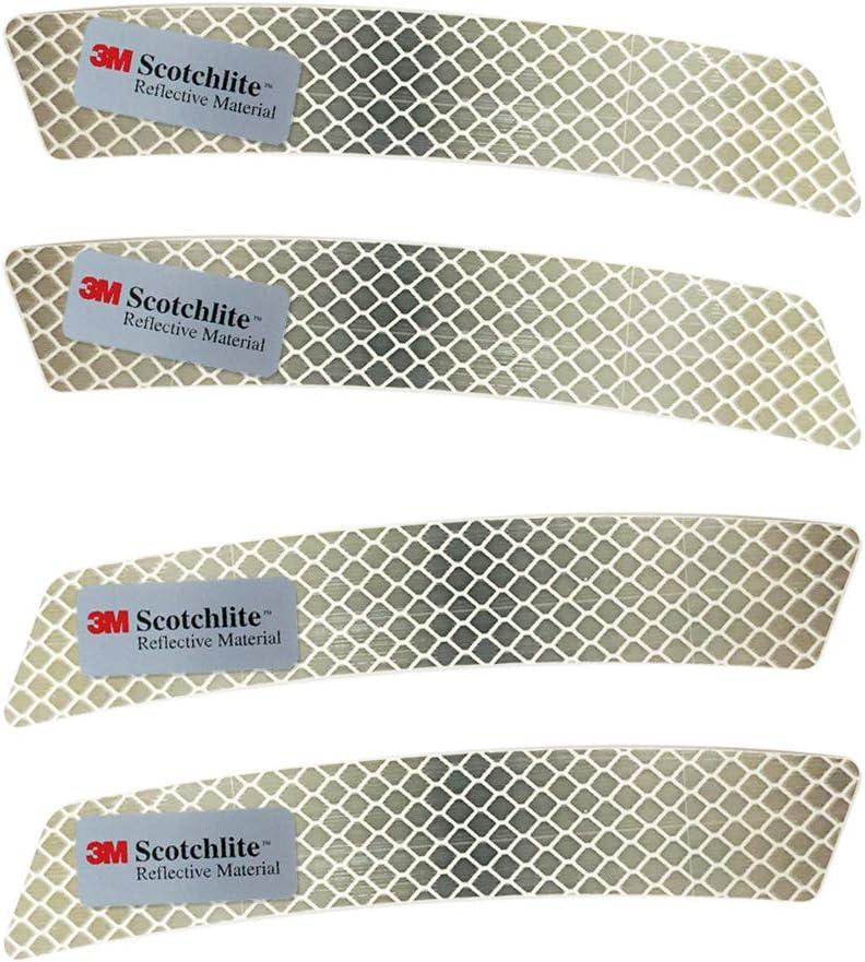 Salzmann Reflective Diamond Grade Sticker | Waterproof, All-Weather Reflective Stickers | Made with 3M Diamond Grade | Pack of 4