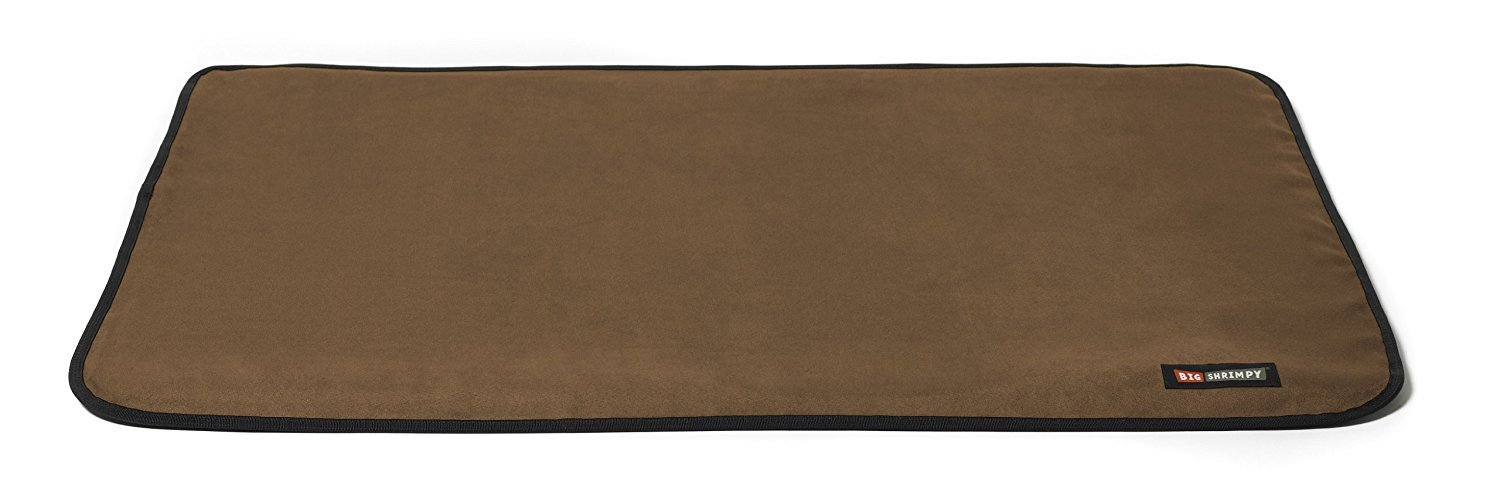 Big Shrimpy Landing Pad Faux Suede Crate Mat, Extra Large, Walnut
