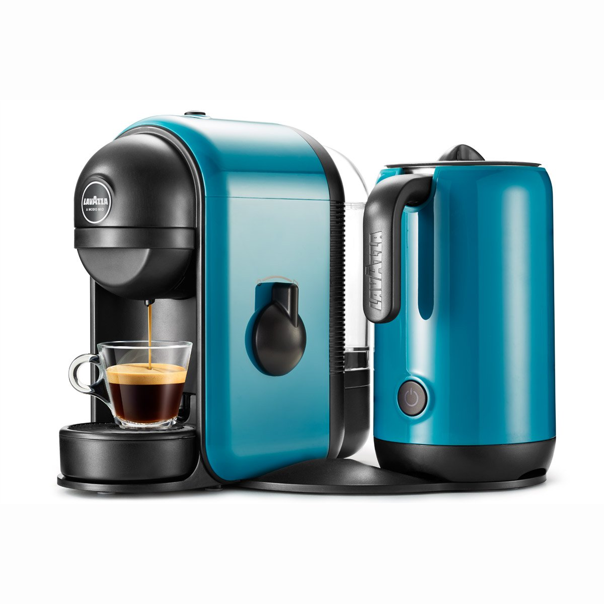 Lavazza Minù Caffè Latte – Coffee (Freestanding, semi-automática, Pod Coffee Machine, Lavazza A Modo Mio, Coffee Capsule, Blue) 10080941