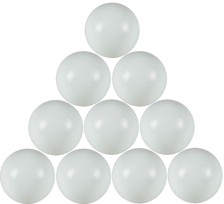 FAS 10 palline calcio balilla bianche GAL19S con sacchetto di plastica