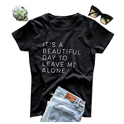 Meikosks Ladies Short Sleeve Pullover Fashion Letter Printed Tshirt Short Sleeve Tops: Clothing