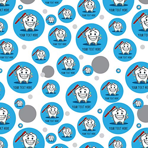 - GRAPHICS & MORE Personalized Custom 1 Line Happy Tooth Dentist Premium Gift Wrap Wrapping Paper Roll