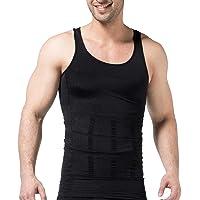 Mens Compression Tank Top Body Slimming Shaper Compression Shirts for Men Slim Undershirts Abs Vest for Workout Abdomen