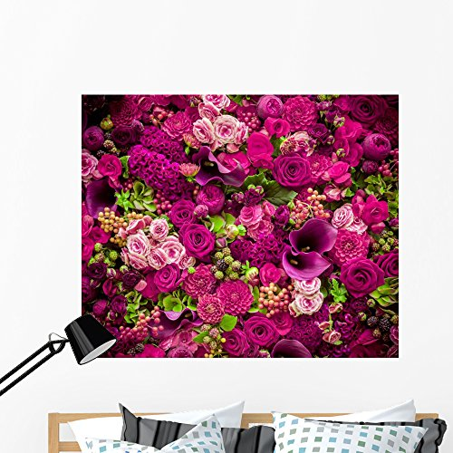 Abstract Flowers Close-up Wall Mural by Wallmonkeys Peel