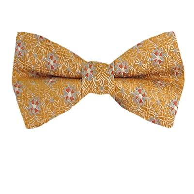 B-PBT-11060 - Orange - Fashion Designer Boys Pre-Tied Bow Tie
