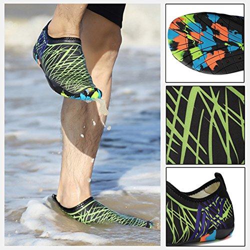 Dry Löcher für Schwimmen See Turnschuhe Walking KEALUX Männer Barfuß Park Schuhe Fahren Quick Grün Wassersport Bootfahren Garten Yoga Frauen mit Multifunktionale Strand Drainage gAWIF7