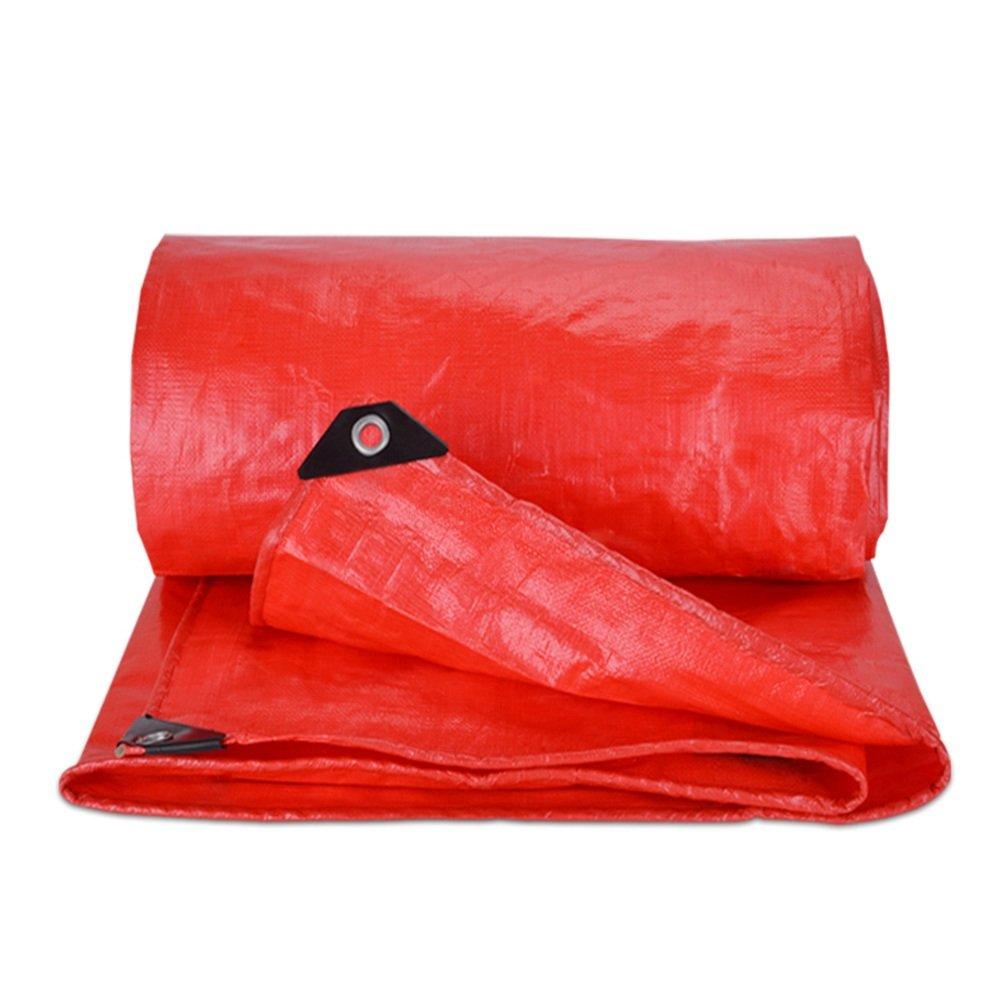 CHAOXIANG オーニング 厚い 折りたたみ可能 両面 防水 耐高温性 耐寒性 耐摩耗性 耐食性 防塵の 軽量 PE 赤、 180g/m 2、 厚さ 0.38mm、 15サイズ (色 : 赤, サイズ さいず : 4×6m) B07DB8HGLP 4×6m|赤 赤 4×6m