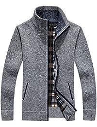 Men's Classic Fleece Zip up Cardigan Collar Sweater