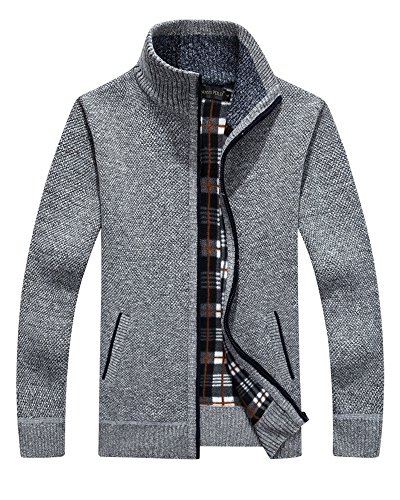 Vcansion Classic Fleece Cardigan Sweater