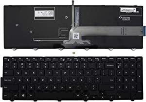 Laptop Replacement Keyboard for Backlit Dell Inspiron 15 3000 Series 3541 3542 3552 3553 3558 3559,15 5000 Series 5542 5543 5545 5547 5548 5552 5557 5558 5559, 17 5000 Series 5748 5749 5755 5758 5759