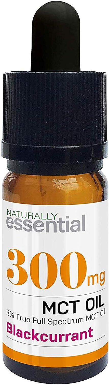 Extracto de cáñamo natural esencial en aceite MCT (espectro completo verdadero de toda la planta) – cuentagotas – 300 mg