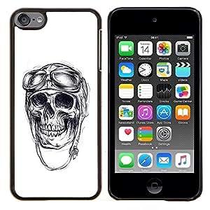 """Be-Star Único Patrón Plástico Duro Fundas Cover Cubre Hard Case Cover Para iPod Touch 6 ( El veterano piloto de guerra Cráneo Muerte Blanca"""" )"""
