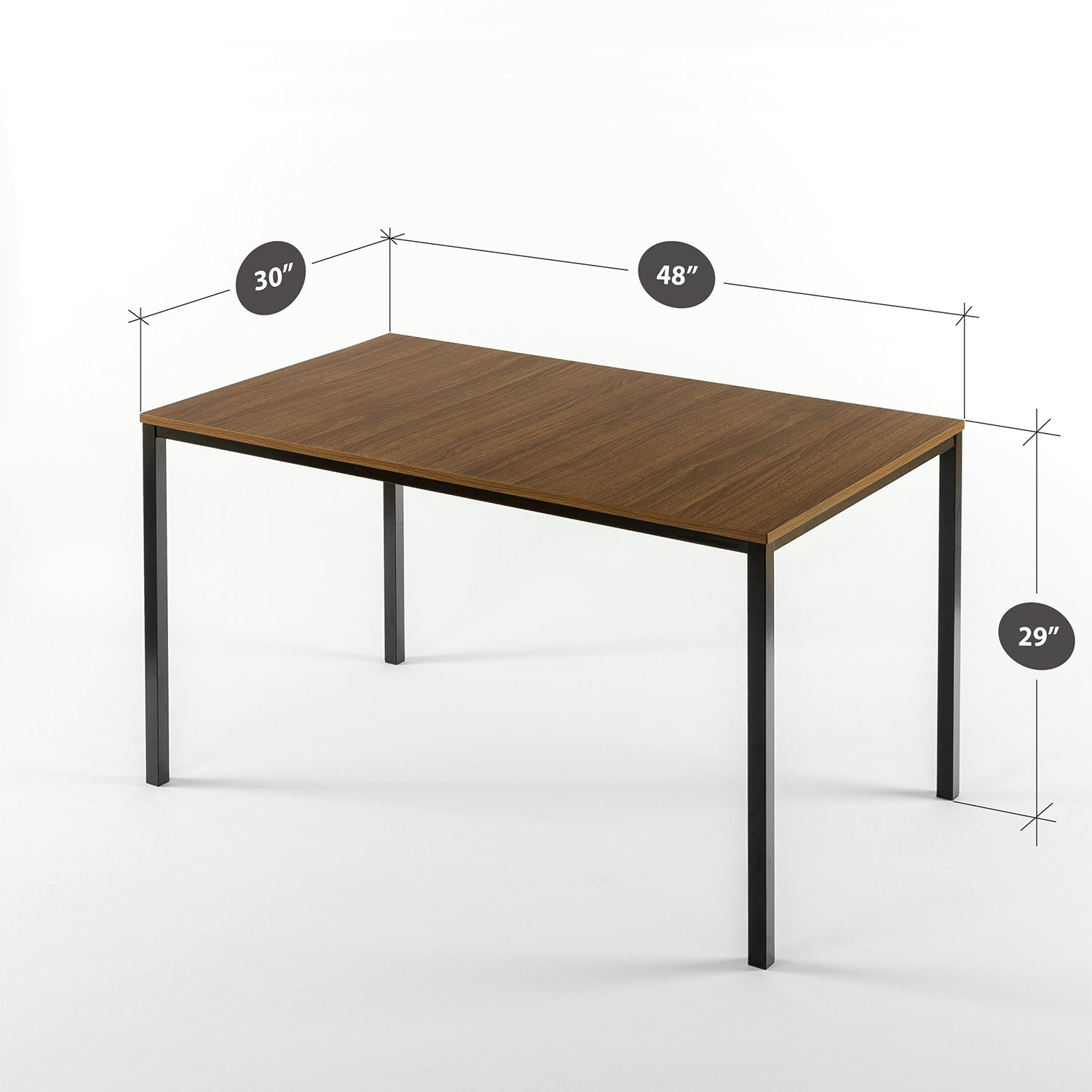 Zinus Modern Studio Collection Soho Dining Table/Office Desk/Computer Desk/Table Only, Brown by Zinus (Image #2)