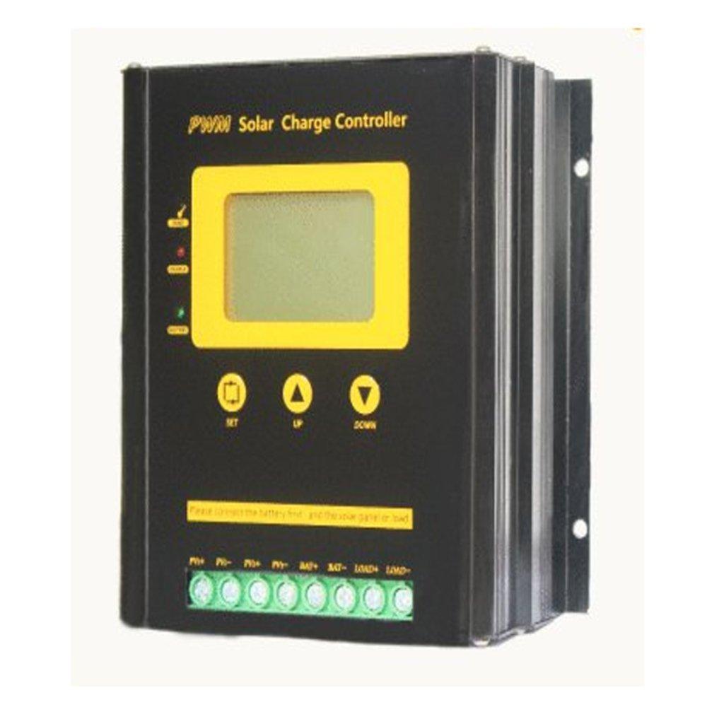 Solar Charge Controller 80A PWM 12V 24V Auto Multipurpose Lead-acid, gel, lithium Battery Charging 50V PV Input 2 Solar Panel Charging Regulators Large Capacity High Power with 5V USB Port Muiltple Pr