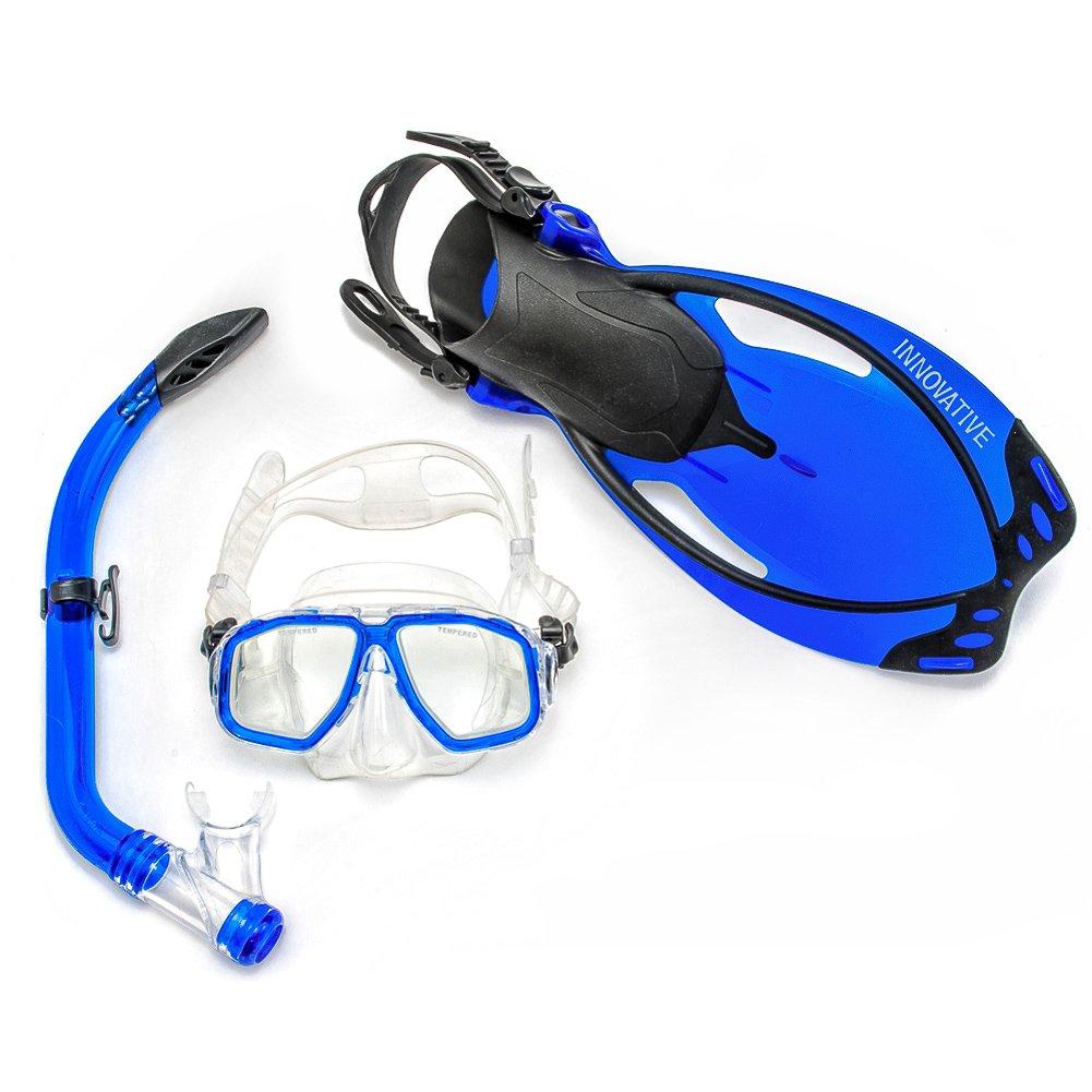 Innovative Scuba Concepts MSF4526 JUNIOR L/XL T/BLUE MASK,FIN & SNKL SET