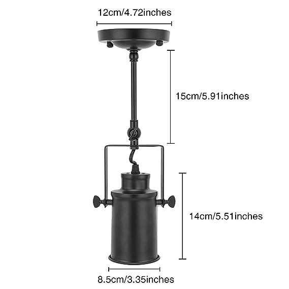 Amazon.com: DH DIAODENG - Lámpara de techo (hierro forjado ...