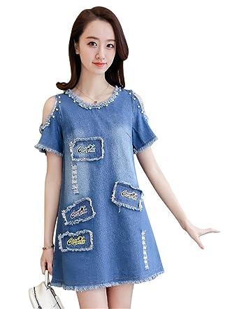 5ceed3b5a80c1 Denim Dress Women Off Shoulder