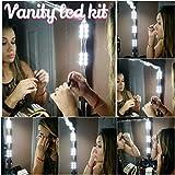 Make-up Vanity LED Kit TM / Mirror Kit, 10 LED Vanity Lights + Dimming Switch